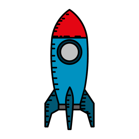 rocket start up icon vector illustration design