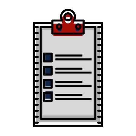 checklist clipboard isolated icon vector illustration design Çizim