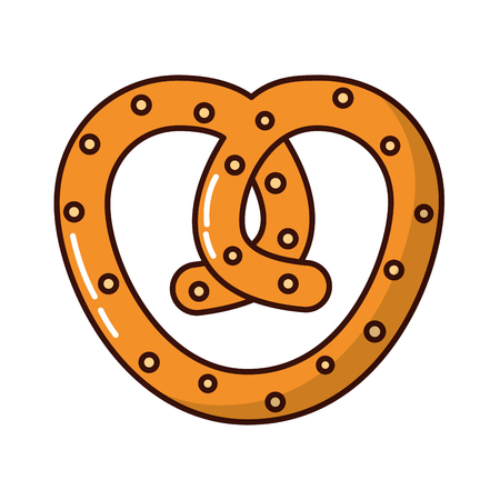delicious pretzel bakery icon vector illustration design 向量圖像