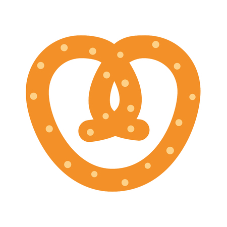 delicious pretzel bakery icon vector illustration design Illustration