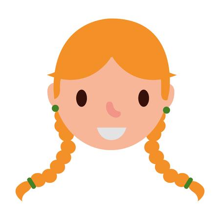 head of german woman avatar character vector illustration design 向量圖像