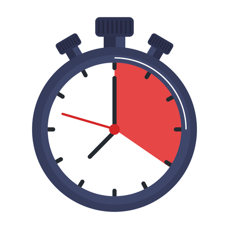 Chronomètre minuterie icône isolé illustration vectorielle