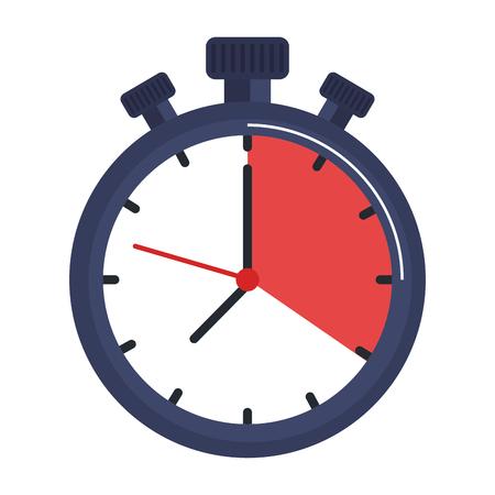 Chronometer Timer isoliert Symbol Vektor-Illustration Design