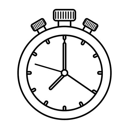 Temporizador cronómetro icono aislado diseño ilustración vectorial Ilustración de vector