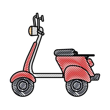 scooter bike isolated icon vector illustration design Illustration