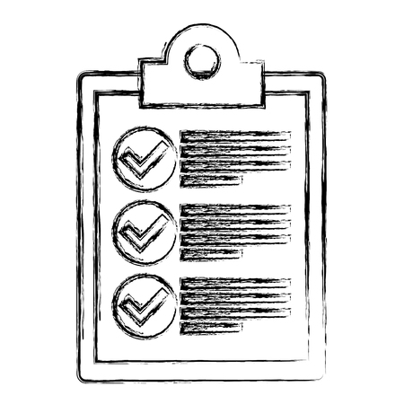 checklist clipboard isolated icon vector illustration design Banque d'images - 109990216