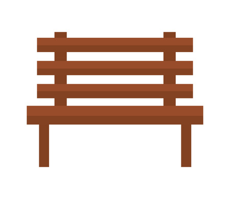 chair park isolated icon vector illustration design