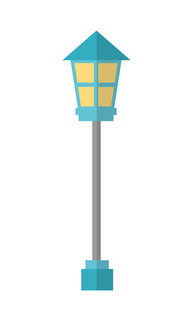 lamp park isolated icon vector illustration design