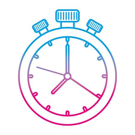 chronometr zegar na białym tle ikona wektor ilustracja projekt