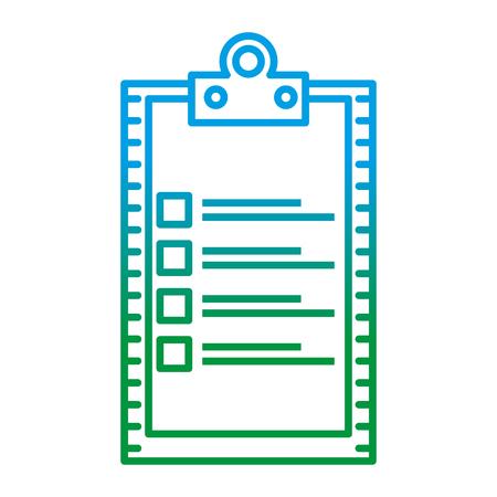checklist clipboard isolated icon vector illustration design 일러스트