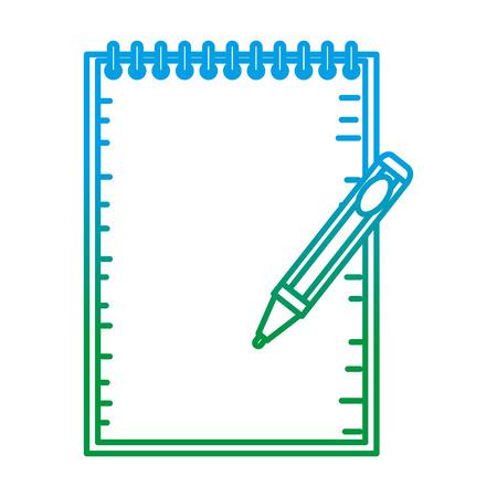 Notizbuchschule mit Stiftbildungsvektorillustrationsentwurf Vektorgrafik