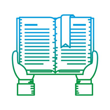 hands with text book vector illustration design Иллюстрация