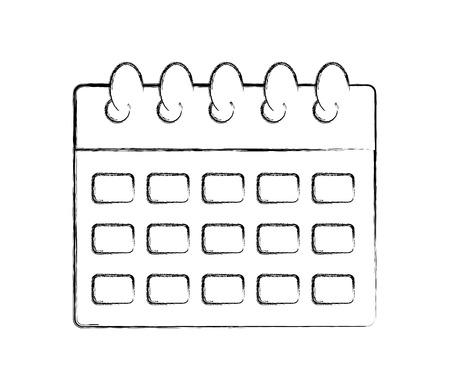 calendar reminder plan date event vector illustration hand drawing