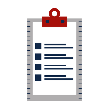 checklist clipboard isolated icon vector illustration design Banque d'images - 108242256