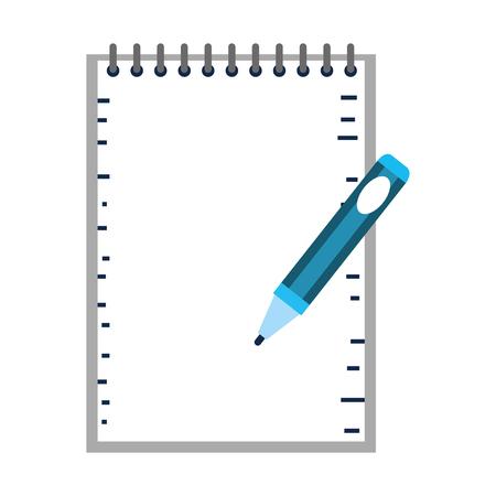 Escuela portátil con pluma educación, diseño de ilustraciones vectoriales Ilustración de vector