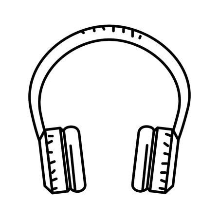 audio earphones isolated icon vector illustration design Illustration