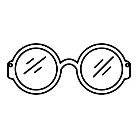 lunettes, icône, isolé, vecteur, illustration, conception Vecteurs