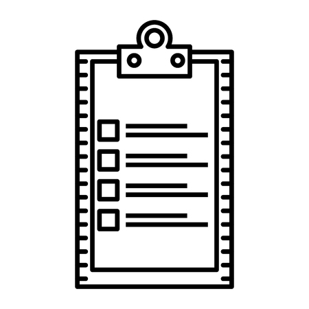 checklist clipboard isolated icon vector illustration design Banque d'images - 109990544