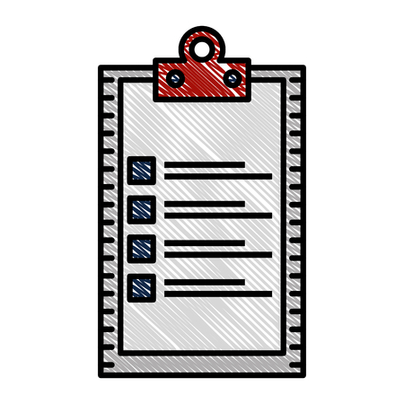 checklist clipboard isolated icon vector illustration design Banque d'images - 109990622