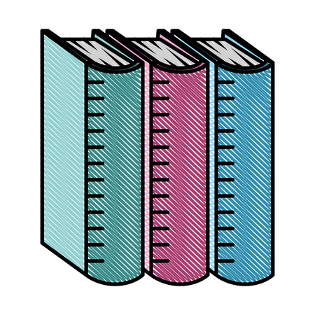 pile text books isolated icon vector illustration design  イラスト・ベクター素材