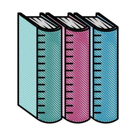 pile text books isolated icon vector illustration design Ilustração