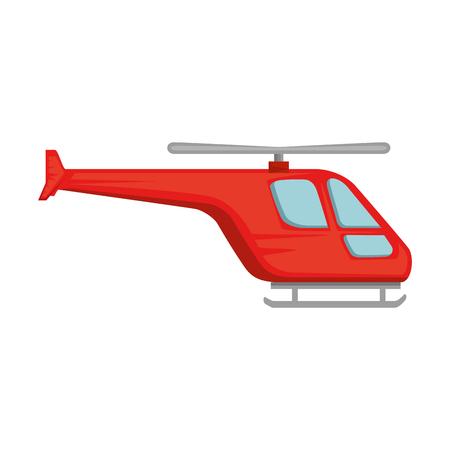 Hélicoptère volant icône isolé vector illustration design