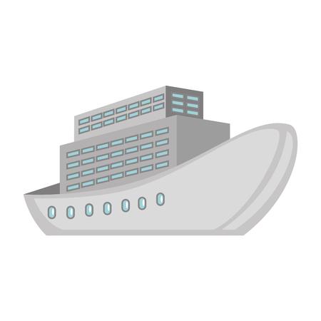 cruice ship isolated icon vector illustration design