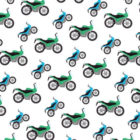 motorcycles sport pattern background vector illustration design