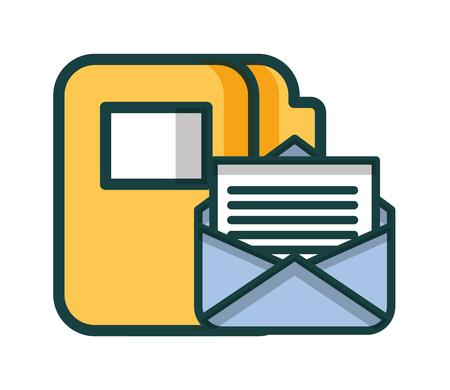 courrier enveloppe avec design illustration vectorielle dossier
