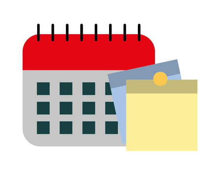 calendar with reminders isolated icon vector illustration design Illustration