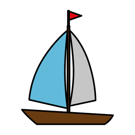 sail boat isolated icon vector illustration design Illusztráció