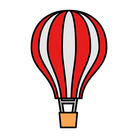 balloon air hot flying vector illustration design 写真素材 - 109990886