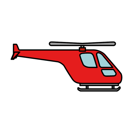 helicopter flying isolated icon vector illustration design
