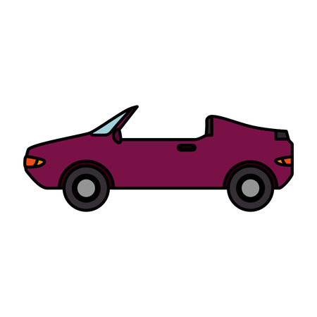 convertible car vehicle isolated icon vector illustration design Illustration