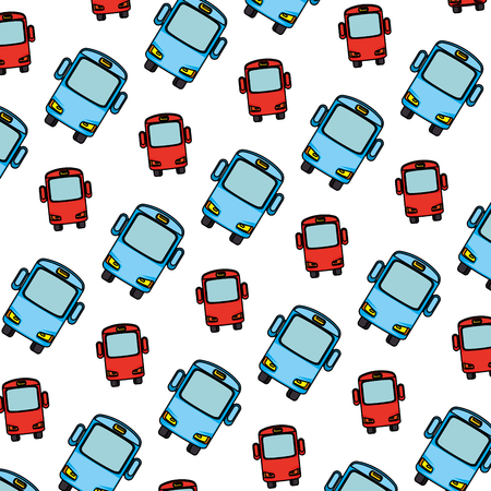 bus vehicles pattern background vector illustration design Ilustração