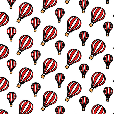 balloons air hot flying pattern background vector illustration design Foto de archivo - 109990913
