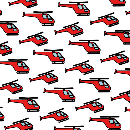 helicopters flying pattern background vector illustration design  イラスト・ベクター素材