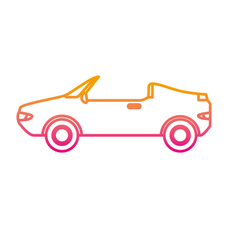 convertible car vehicle isolated icon vector illustration design Standard-Bild - 108253611