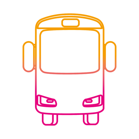 bus vehicle isolated icon vector illustration design Ilustração