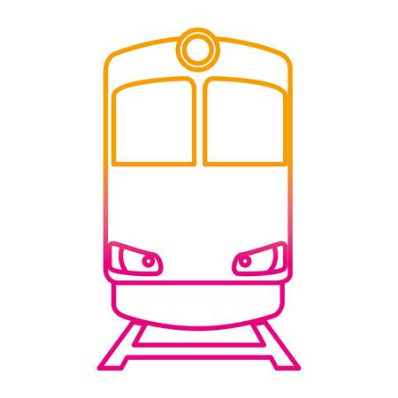 Diseño de ilustración de vector de icono aislado de transporte de tren