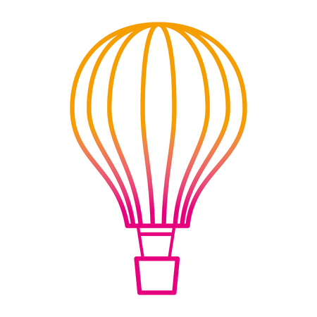 balloon air hot flying vector illustration design Foto de archivo - 109990919