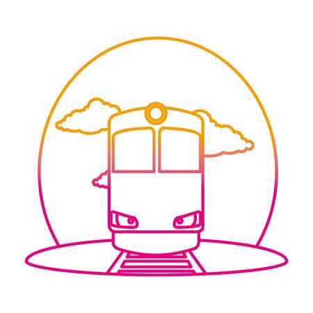train transport on the rail vector illustration design