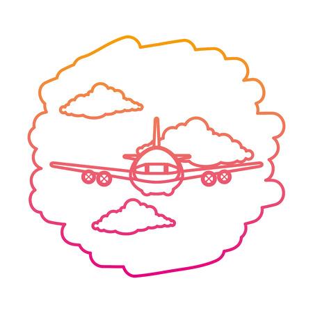 airplane flying on the sky vector illustration design Illustration