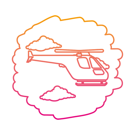 helicopter flying on the sky vector illustration design 向量圖像