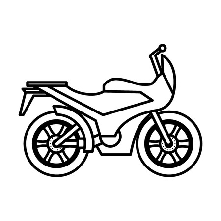 motorcycle sport isolated icon vector illustration design