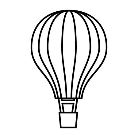 balloon air hot flying vector illustration design 写真素材 - 108254261