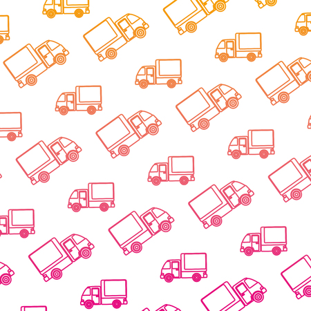 delivery service trucks pattern background vector illustration design