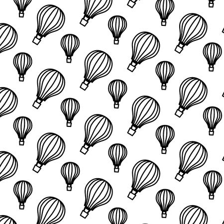 balloons air hot flying pattern background vector illustration design Foto de archivo - 109990946