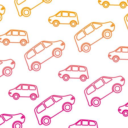 cars vehicles pattern background vector illustration design