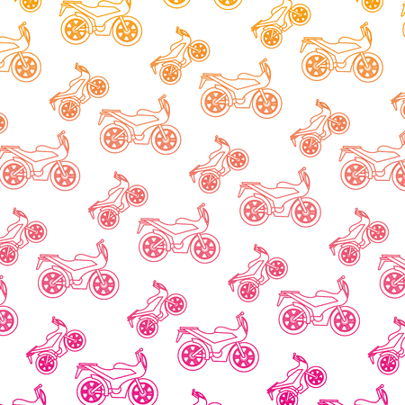motorcycles sport pattern background vector illustration design